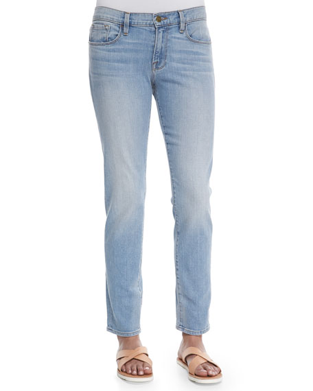 FRAME Le Garcon Faded Denim Jeans, Mitchell