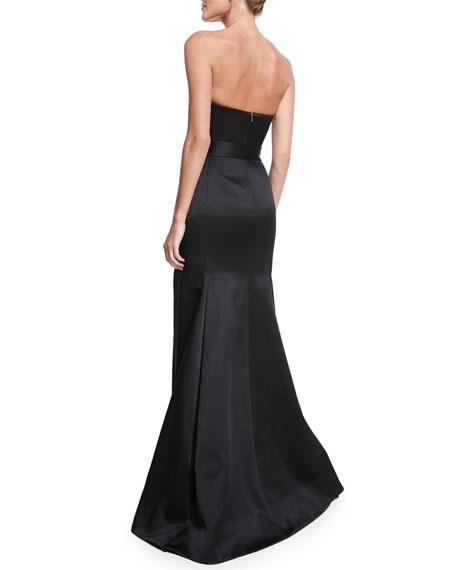 Strapless Mermaid Gown W/Belt, Black