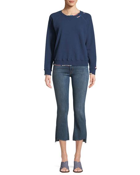 Insider Crop Frayed Jeans