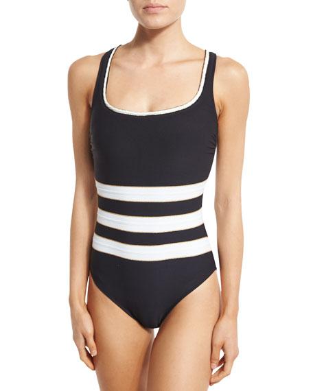 Gottex Regatta Striped One-Piece Swimsuit