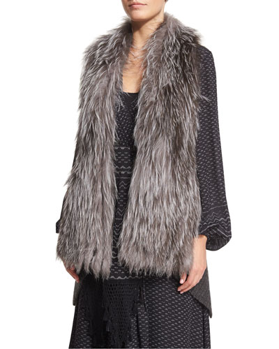 Emily Fox Fur Sweater Vest