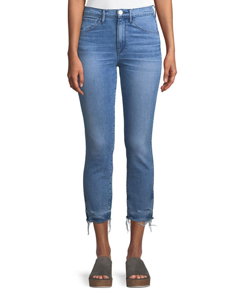 3x1 W3 Authentic Straight-Leg Crop Jeans