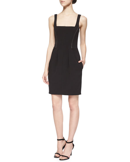 L'Agence Karina Seamed-Waist Dress
