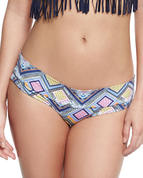 Ondademar Fressia Geometric-Print Banded Swim Bottom