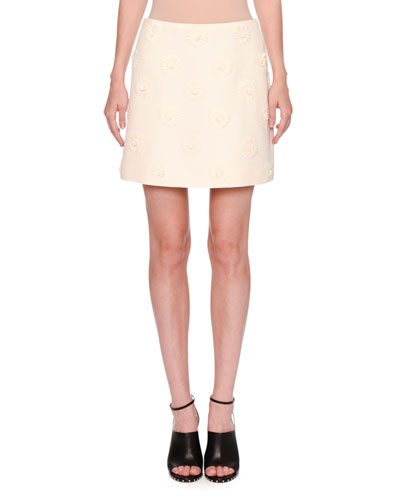 Daisy Crepe Couture Skirt, Ivory