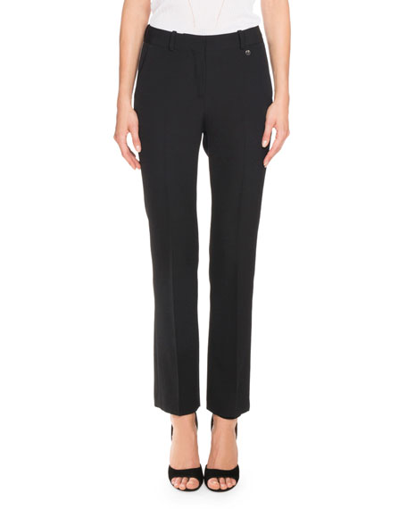 Givenchy Skinny Boot-Cut Trousers, Black