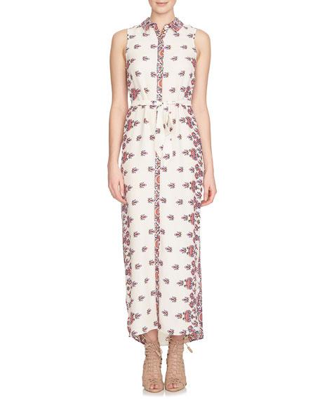 Cynthia Steffe Sleeveless Kaleidoscope-Print Maxi Shirtdress