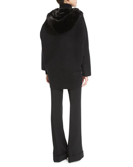 Fur-Lined Zip-Front Cashmere Jacket