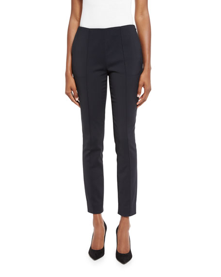 Jason Wu Cropped Side-Zip Pants, Gray