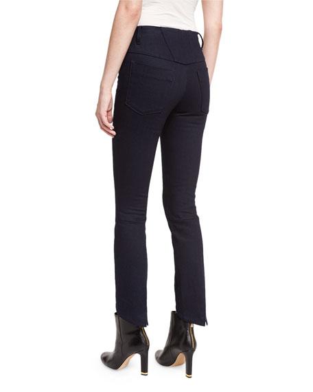 High-Waist Cropped Skinny Jeans, Indigo