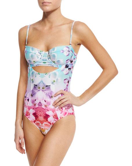 Soundwave One-Piece Swimsuit, Cartagena Floral