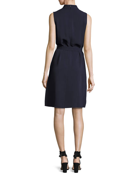 Mazie Sleeveless Dress, Blue