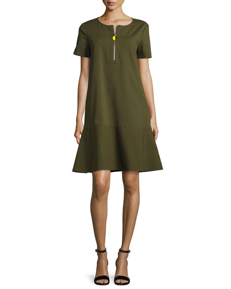 Lafayette 148 New York Vinita Short-Sleeve Bi-Stretch Dress,