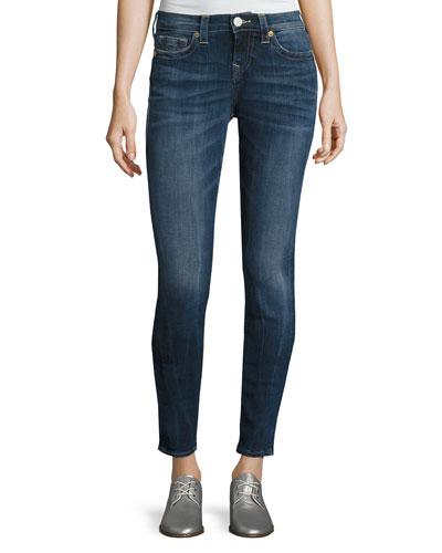 Halle Mid-Rise Skinny Jeans, Oceana Blue (Indigo)
