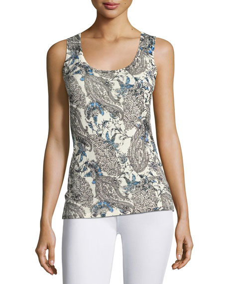 Neiman Marcus Cashmere Collection Superfine Lily Paisley