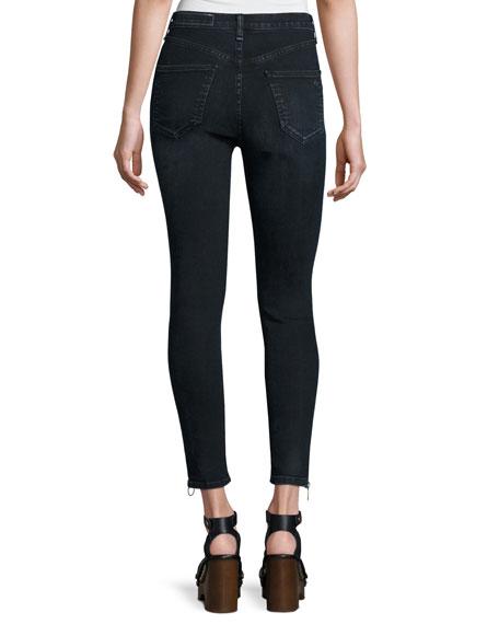 O-Ring Dive Capri Jeans, Black Brook