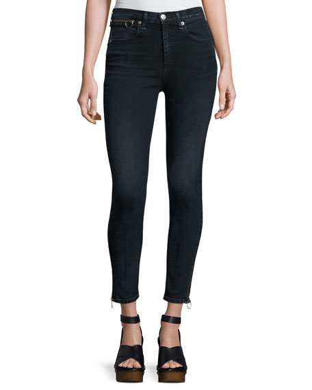 O-Ring Dive Capri Jeans, Black Brook and Matching