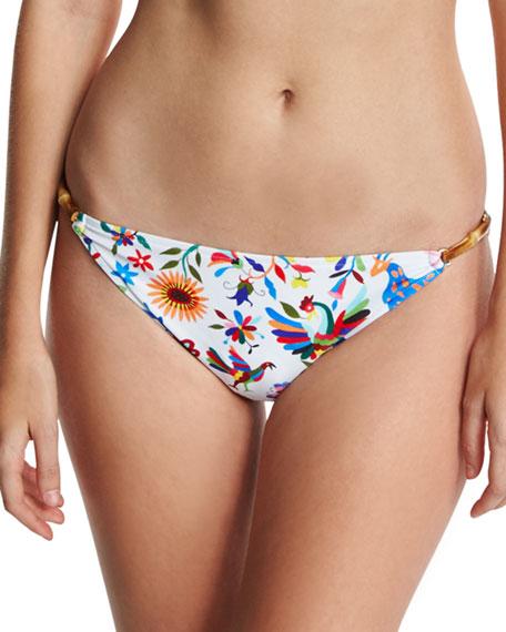Milly Positano Italian Folkloric Floral-Print Swim Bottom,