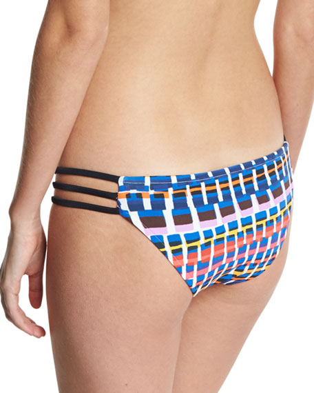 Lanai Giraffe-Print Strappy Swim Bottom, Multicolor