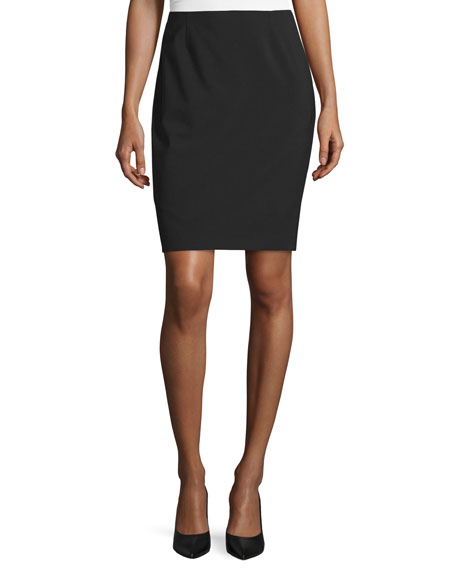 Elie Tahari Bennet Short Pencil Skirt, Black