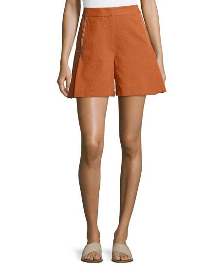 GREY by Jason Wu High-Waist Flared Shorts, Brown