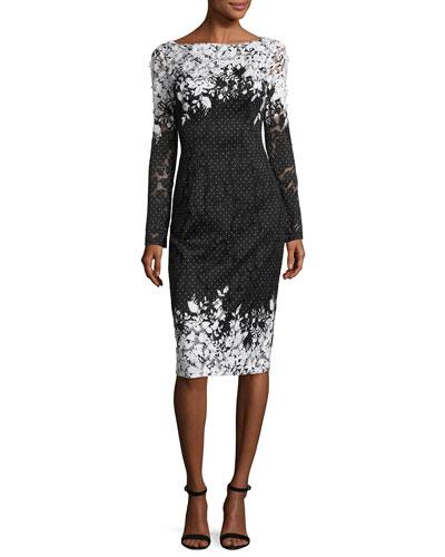 3 4 sleeve cocktail dresses neiman