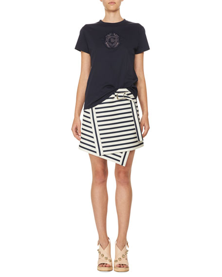 Carven Striped Mini Dress Discount Outlet Sale Cheap Prices Footlocker Pictures Cheap Price For Cheap Online VGpAKn0Ja