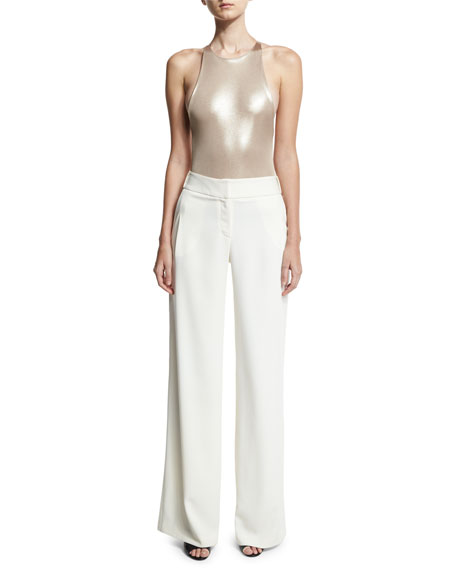 Flowy Wide-Leg Pants, White