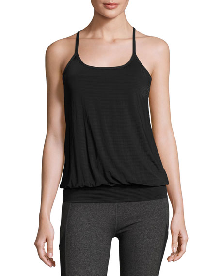 Beyond Yoga Sleek Stripe Overlap Racerback Twofer Tank,