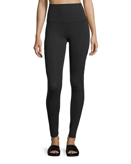 Beyond Yoga Triple-Mesh High-Waist Long Legging, Black