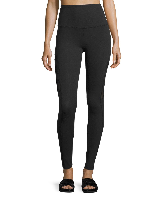 8b1930dcfb Beyond Yoga Triple-Mesh High-Waist Long Legging, Black | Neiman Marcus