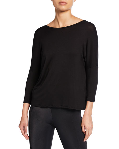 Beyond Yoga Slinky Twist-Back Long-Sleeve Top