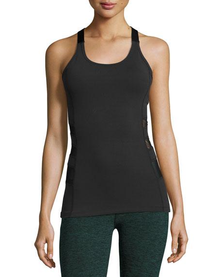 Beyond Yoga Silhouette Triple-Mesh Tank, Black