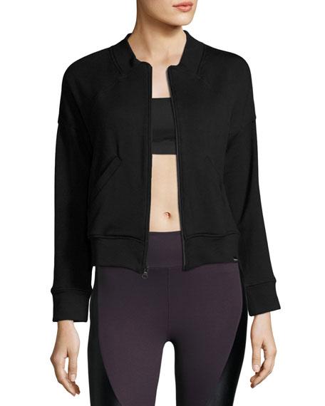 Koral Activewear Boxer Bomber Track Jacket, Black