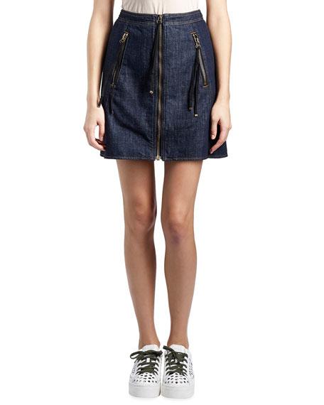 Kenzo Satin Double-Zip Bomber Jacket, Cotton Jersey Camo