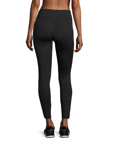 Magnify Athletic Leggings, Black Pattern