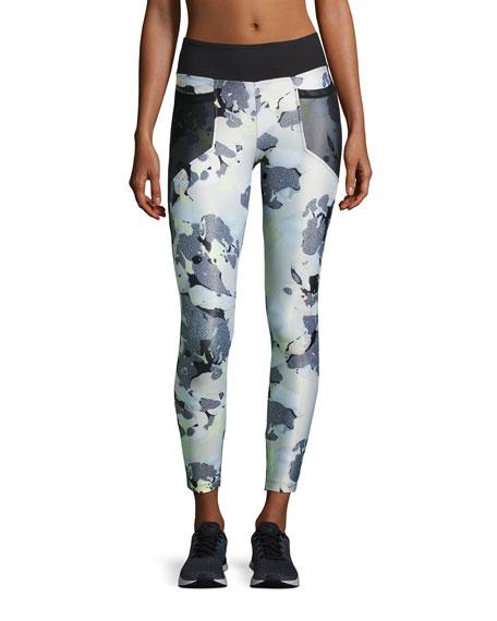 Koral Activewear Magnify Athletic Leggings, Black Pattern