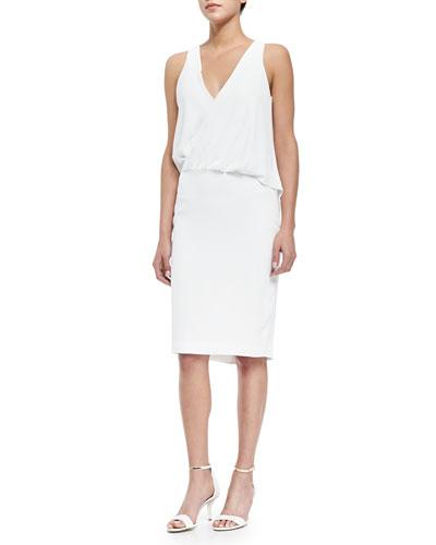 Tianey Sleeveless Draped Sheath Dress