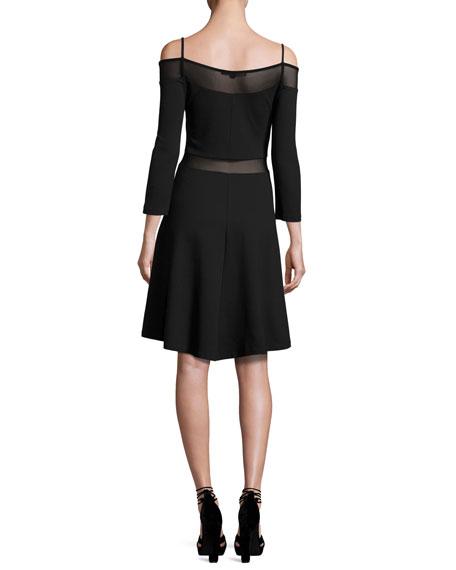 Tatlin Beau Cold-Shoulder Illusion Dress