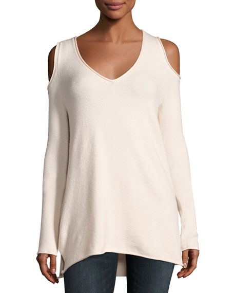 Venture Vhari Cold-Shoulder Sweater, Blush