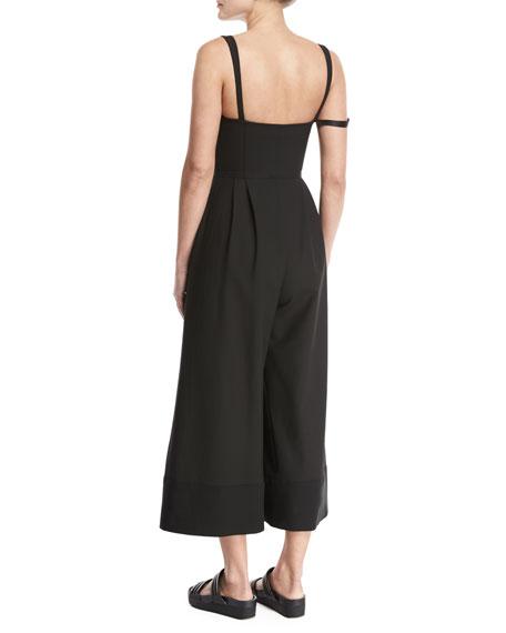 Jude Sleeveless Culotte Jumpsuit, Black