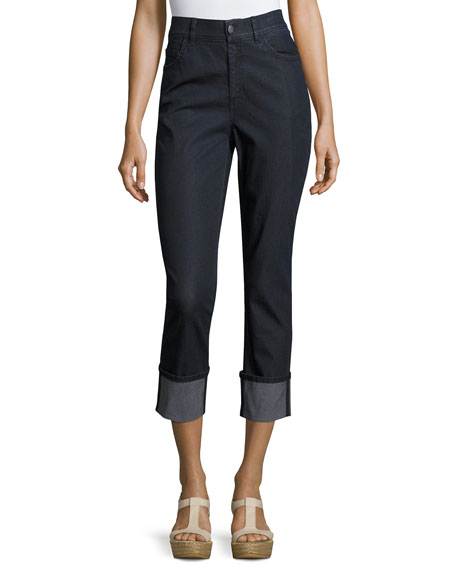 Lafayette 148 New York Dahlia Cropped Cuffed Jeans,