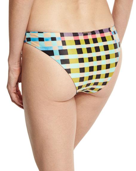 Tile-Print Hipster Swim Bottom, Multicolor