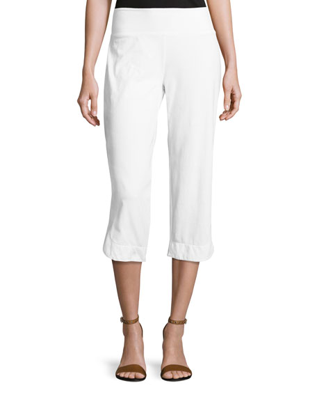 Neon Buddha Eden Pull-On Capri Pants, White