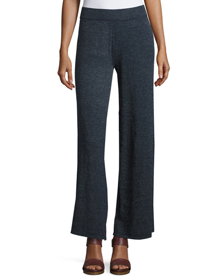 La Playa Palazzo Pants, Navy, Plus Size