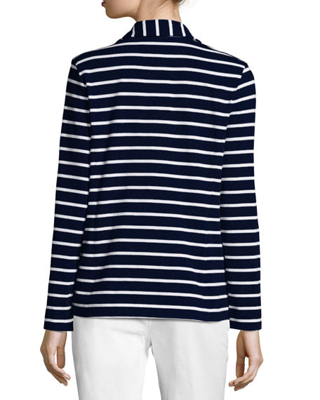 Striped Two-Button Jacket, Petite