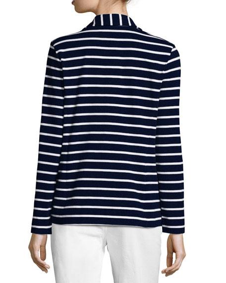 Striped Two-Button Jacket, Plus Size