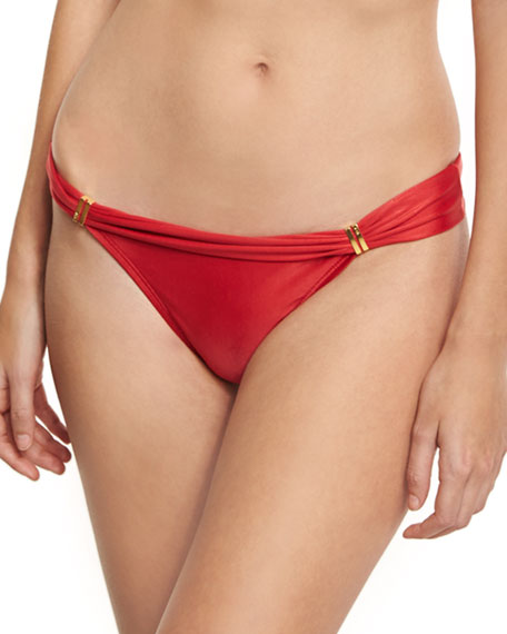 Bia Solid Swim Bottom, Red