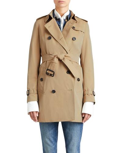 The Kensington Mid-Length Heritage Trench Coat, Honey