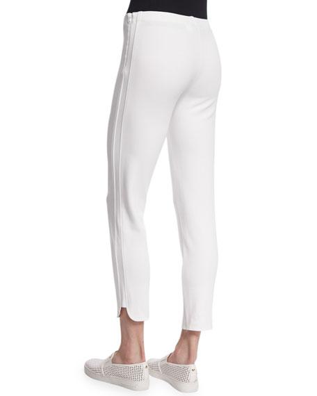 Ponte Ankle Pants, White, Petite